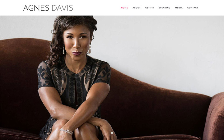 Agnes Davis Website Design