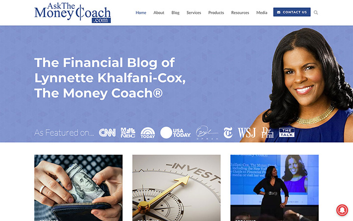 Ask The Money Coach Website Design
