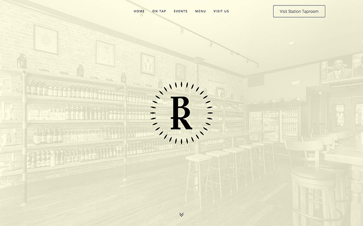 Bottle Room Downingtown Website Design