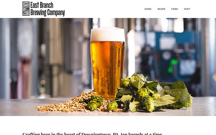 East Branch Brewing Company Website Design
