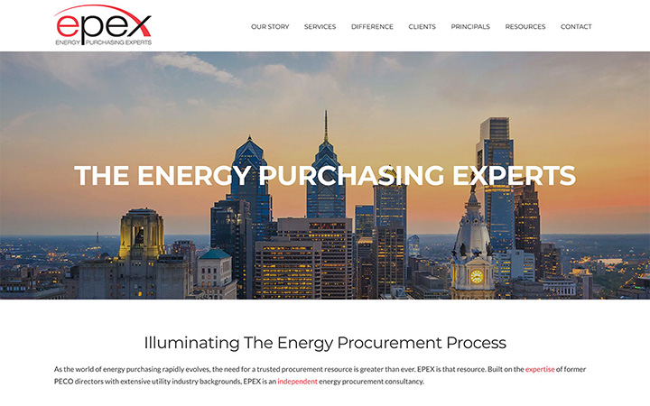 EPEX Energy Purchasing Experts Website Design