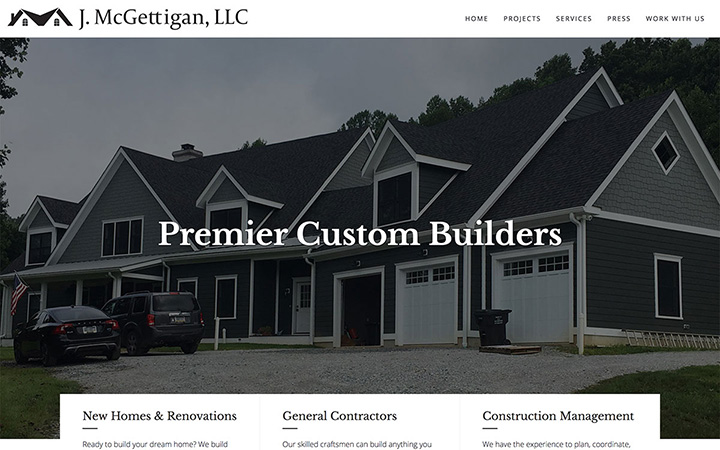 McGettigan Builders Website Design
