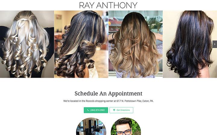 Ray Anthony Salon Website Design