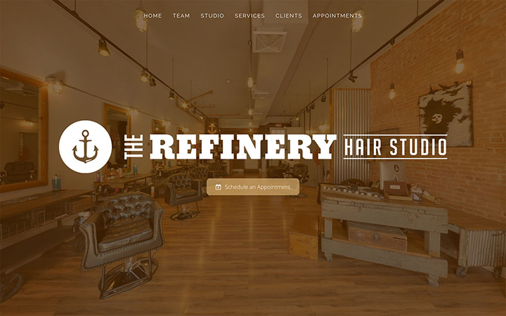 The Refinery Hair Studio Website Design
