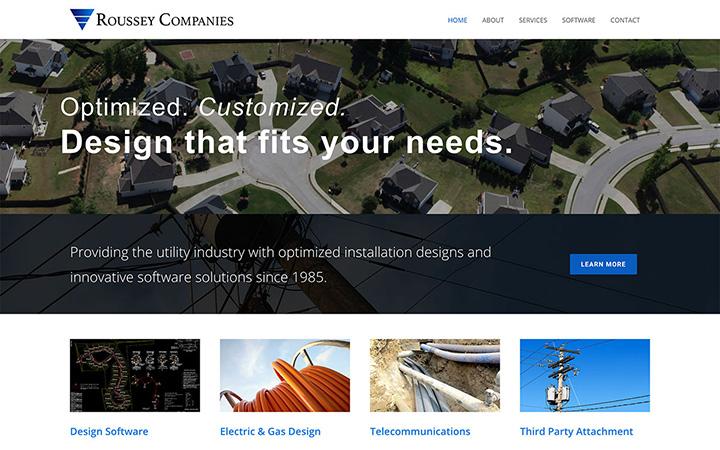 Roussey Companies Website Design
