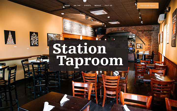 Station Taproom Website Design