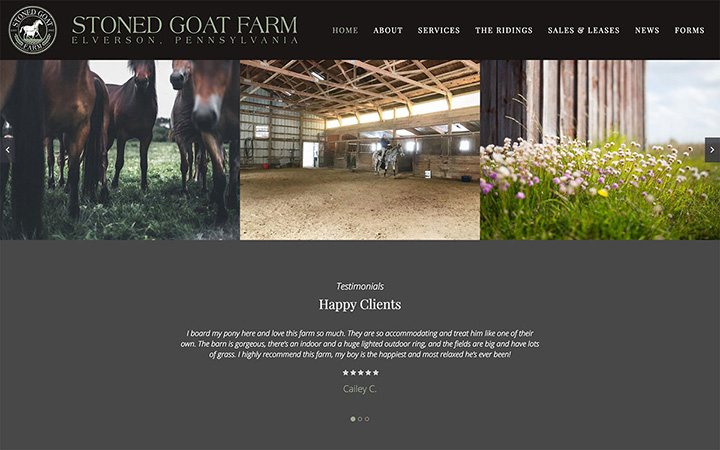 Stoned Goat Farm Website Design