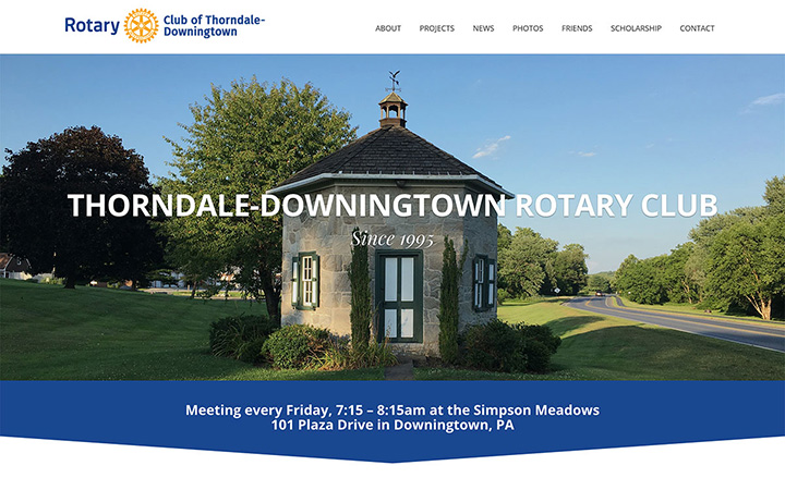 Thorndale-Downingtown Rotary Website Design