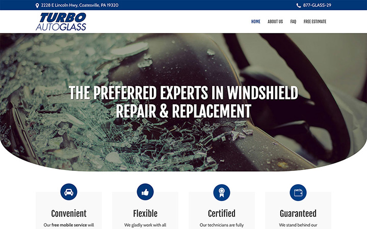 Turbo Auto Glass Website Design