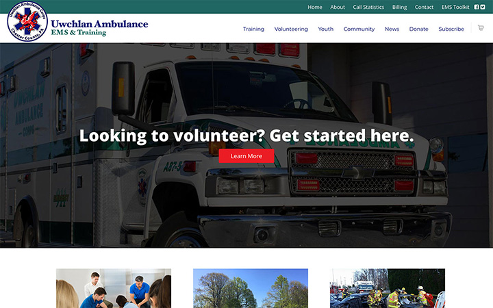 uwchlan-ambulance-web-design