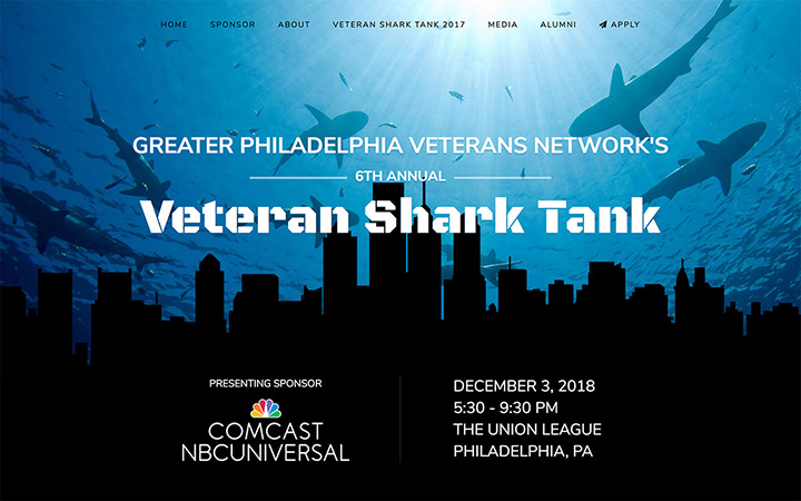 Veteran Shark Tank Website Design